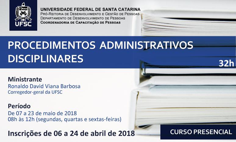 Capacitação Procedimentos Administrativos Disciplinares